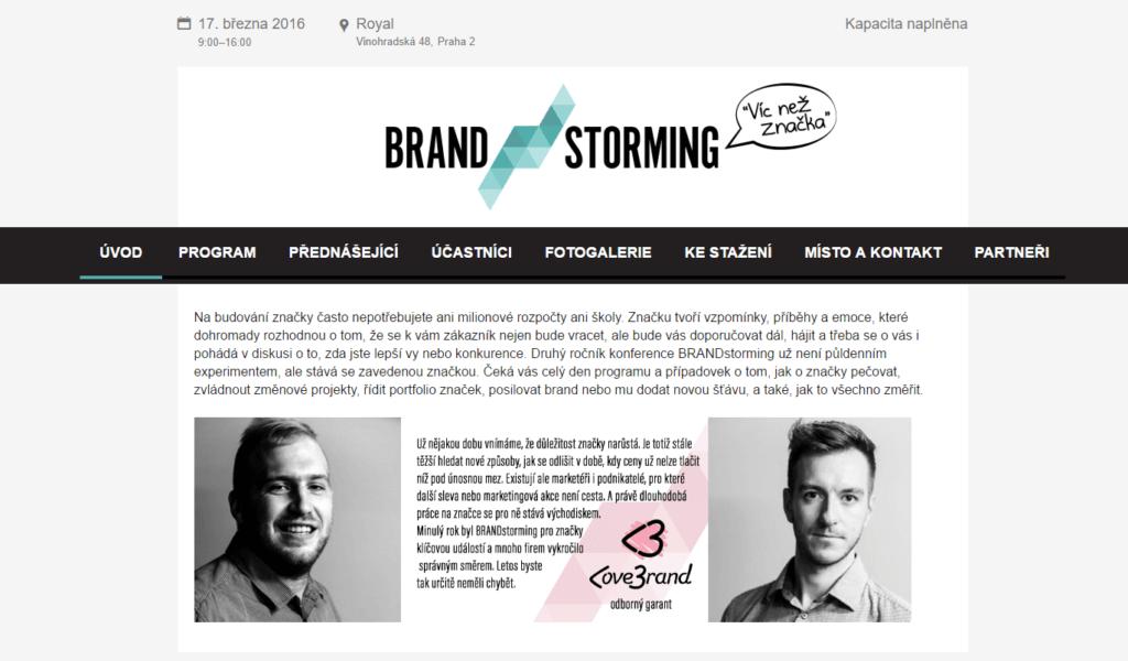 logo brandstorming konference